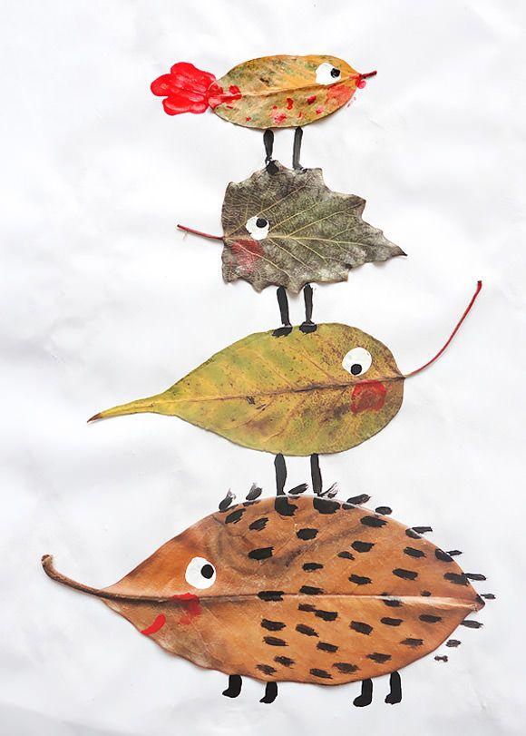 dom z duszą blog o wnętrzach jesienne zabawy liście kasztany plastyczne (2)