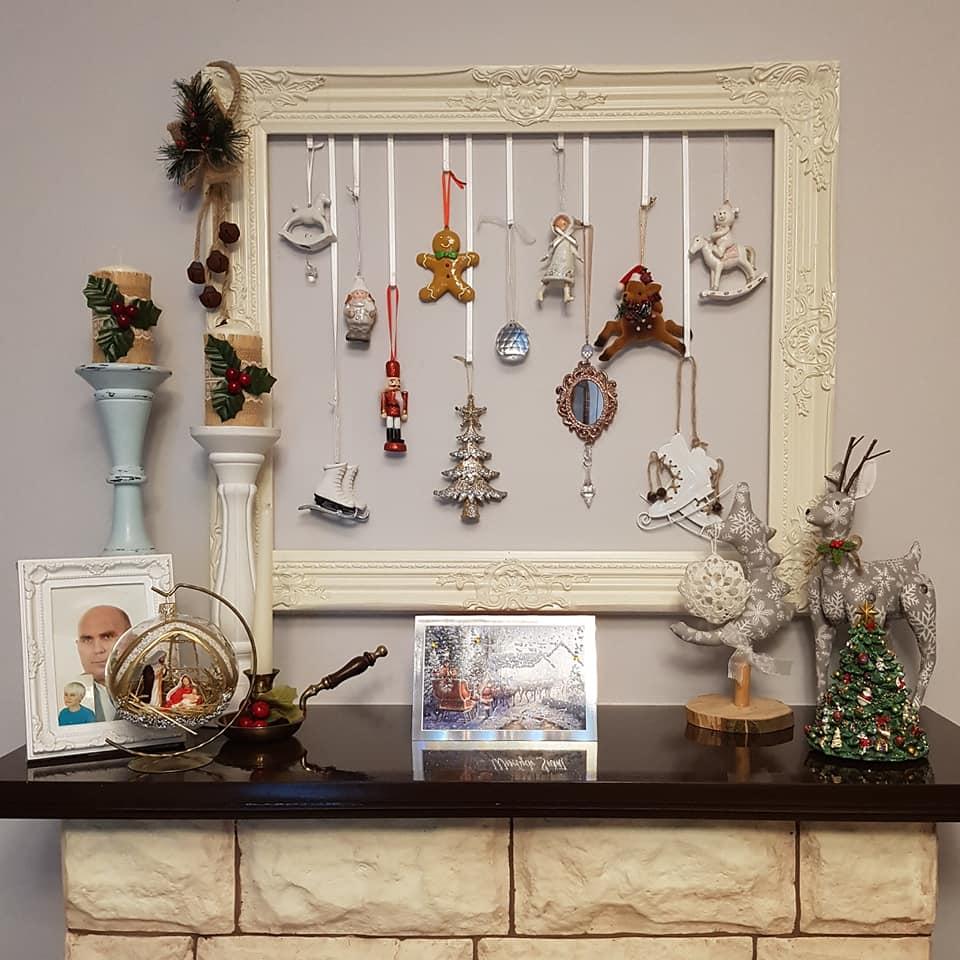 Dekoracje z ramy na Boże Narodzenie