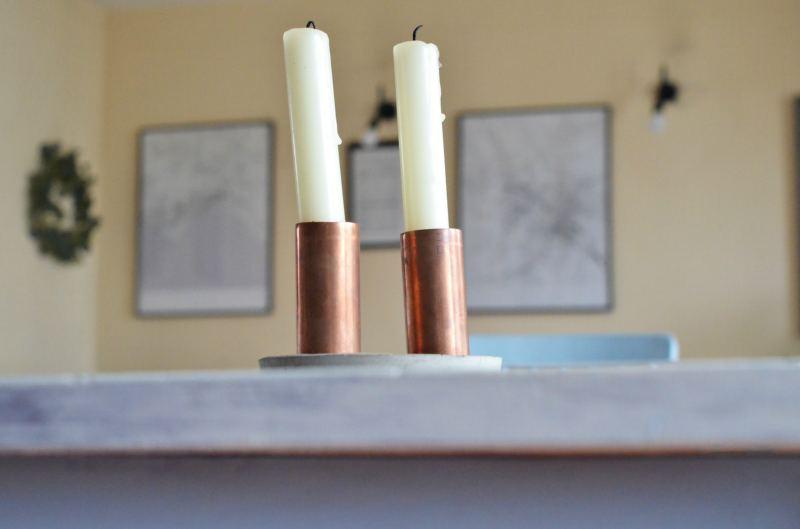 Jak zrobić betonowe, minimalistyczne świeczniki ?