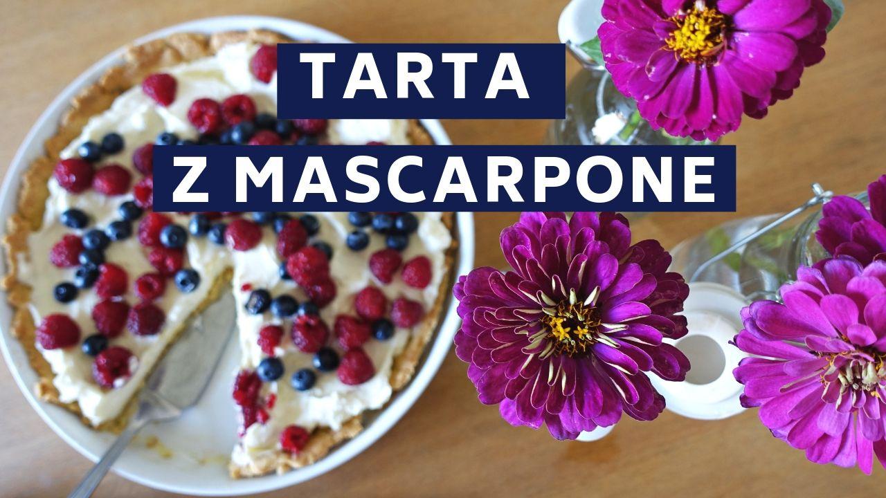 tarta z mascarpone i z owocami